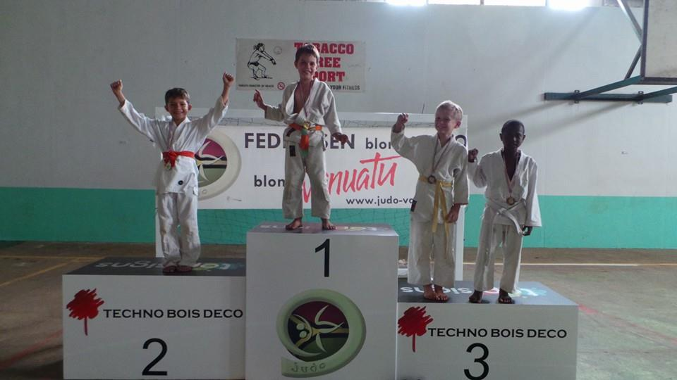 championnat national de judo à Port Vila 2014